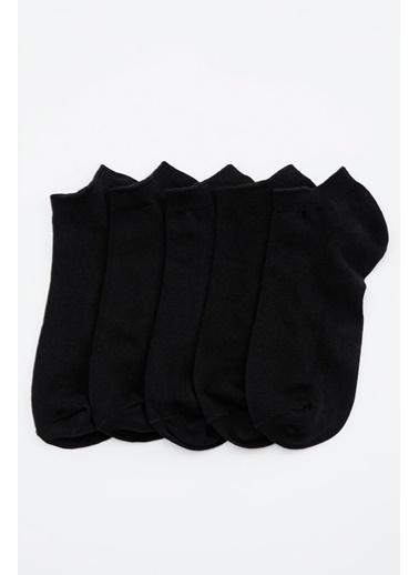 DeFacto 5'li Kısa Çorap Siyah
